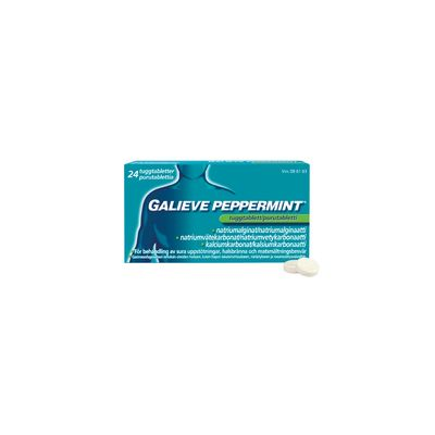 GALIEVE PEPPERMINT 250/133,5/80 mg purutabl 48 fol