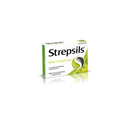 STREPSILS SITRUS 1,2/0,6 mg imeskelytabl 24 fol