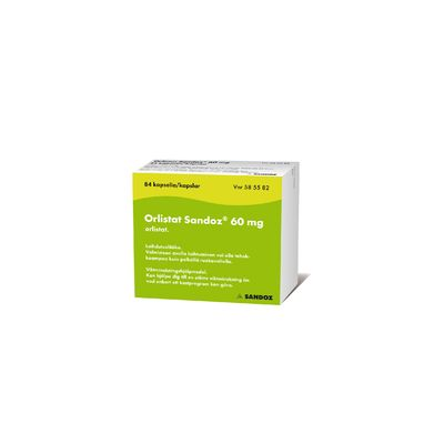 ORLISTAT SANDOZ 60 mg kaps, kova 84 fol