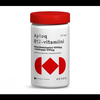 Apteq B12 metyylikobalamiini 1000 mikrog 30 tabl