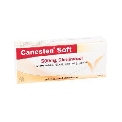 CANESTEN SOFT 500 mg emätinpuikko, kaps, pehmeä 1 fol