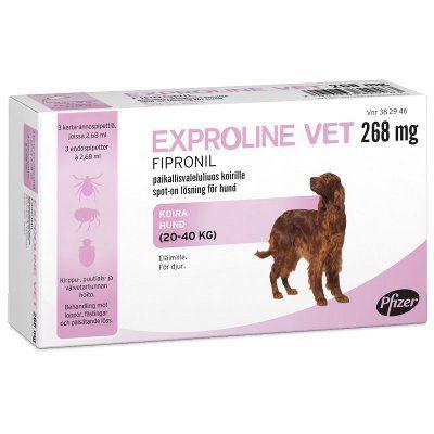 EXPROLINE VET 268 mg paikallisvaleluliuos 3x2,68 ml