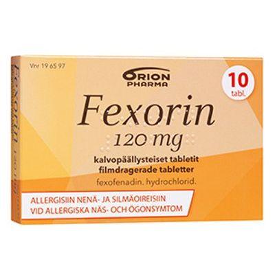FEXORIN 120 mg tabl, kalvopääll 10 fol
