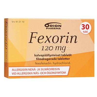 FEXORIN 120 mg tabl, kalvopääll 30 fol