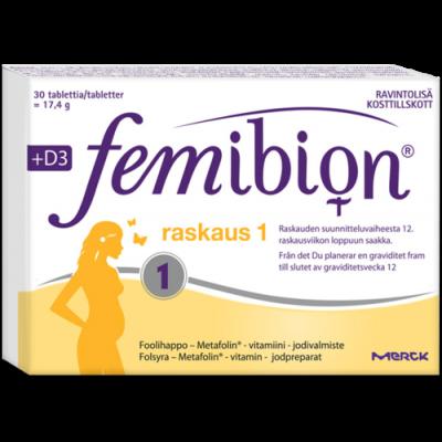 FEMIBION RASKAUS 1 + D3 X30 TABL