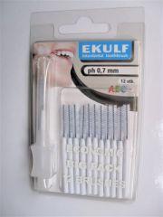 Ekulf hammasväliharja ph ABC 0,7 valkoinen X12 kpl