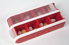 Schine Pill Box S lääkeannostelija punainen 1 kpl