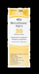 BECLONASAL AQUA 50 mikrog/annos nenäsumute, susp 200 annosta