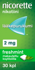 NICORETTE FRESHMINT 2 mg lääkepurukumi 30 fol