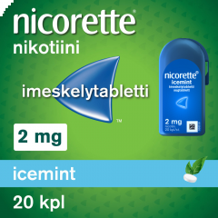 NICORETTE ICEMINT 2 mg imeskelytabl 20 kpl