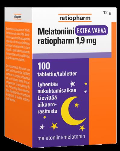 Melatoniini Extra Vahva Ratiopharm 1 9 Mg 100 Tabl Vantaan 11